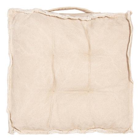 Kussen met foam 45*45*8 cm Beige | KT029.041BE | Clayre & Eef