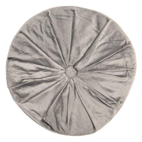 Kussen gevuld ø 38*8 cm Grijs | KT033.001G | Clayre & Eef