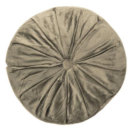 Kussen gevuld ø 38*8 cm Groen | KT033.001GR | Clayre & Eef