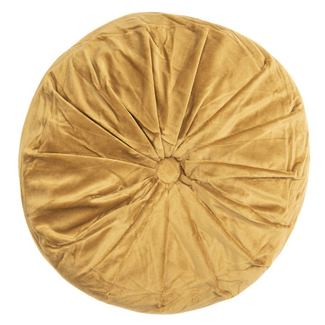 Kussen gevuld ø 38*8 cm Geel | KT033.001Y | Clayre & Eef