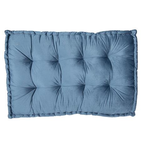 Palletkussen met foam 80*120*12 cm Blauw | KT039.006BL | Clayre & Eef