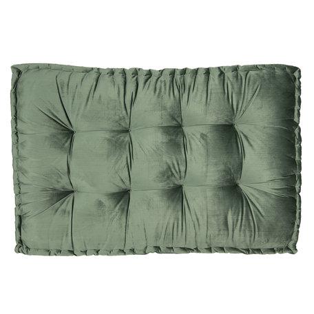 Palletkussen met foam 80*120*12 cm Groen | KT039.006DGR | Clayre & Eef