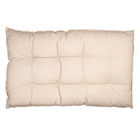 Palletkussen met foam 80*120*12 cm Beige | KT039.007BE | Clayre & Eef