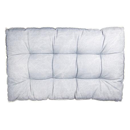 Palletkussen met foam 80*120*12 cm Blauw | KT039.007BL | Clayre & Eef