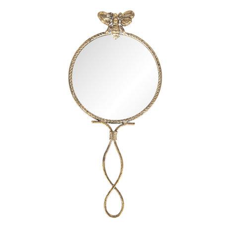 Spiegel 12*2*27 cm Goudkleurig | 62S157 | Clayre & Eef