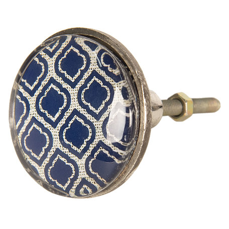 Deurknop ø 5*8 cm Blauw   64287   Clayre & Eef