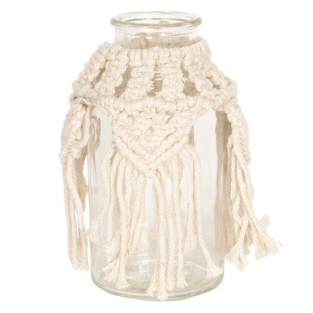 Decoratie glas ø10*20 cm Creme | 6GL2391 | Clayre & Eef