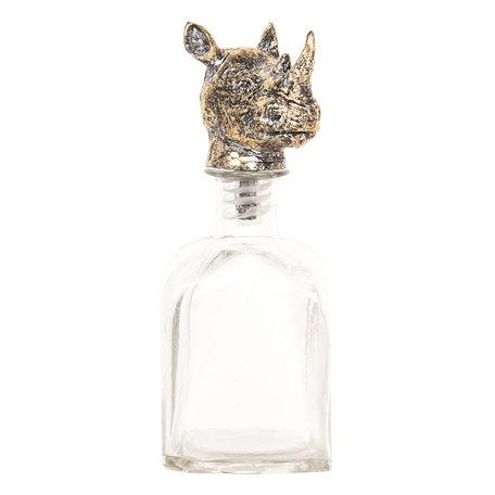 Fles met flessenstop 9*9*24 cm Transparant | 6GL2479 | Clayre & Eef