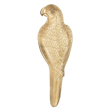 Dienblad vogel 10*2*32 cm Goudkleurig | 6PR2550 | Clayre & Eef