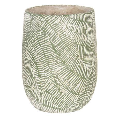 Bloempot ø 14*18 cm Groen | 6TE0231 | Clayre & Eef