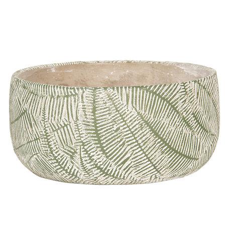 Bloempot ø 22*10 cm Groen | 6TE0233M | Clayre & Eef