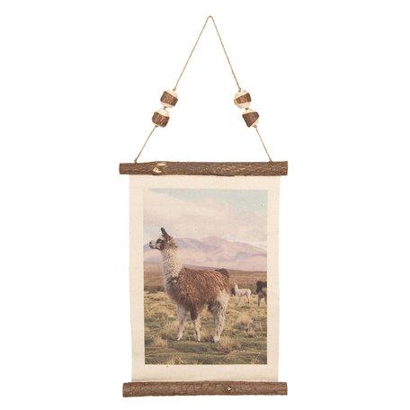 Wandkaart 39*2*28 cm Bruin | 6WK0026 | Clayre & Eef