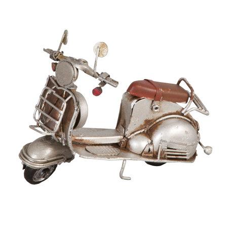 Model scooter 11*5*8 cm Wit   6Y1238   Clayre & Eef