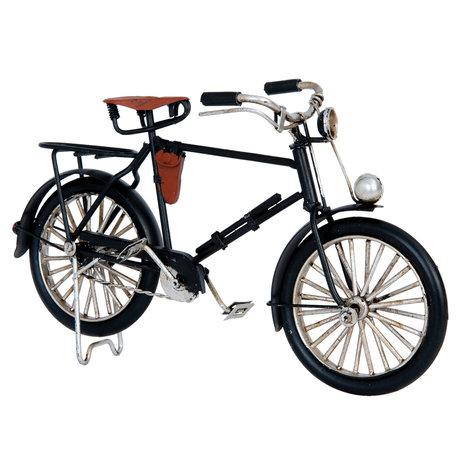 Model fiets 21*7*13 cm Zwart   6Y2254   Clayre & Eef