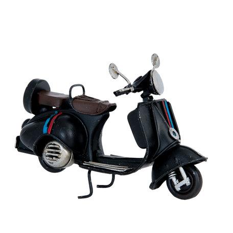 Model scooter 11*5*7 cm Zwart   6Y2256   Clayre & Eef