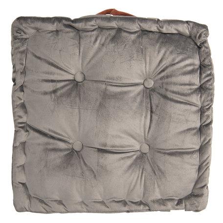 Kussen met foam 40*40*8 cm Grijs | KT029.039G | Clayre & Eef