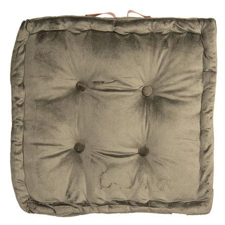 Kussen met foam 40*40*8 cm Groen | KT029.039GR | Clayre & Eef