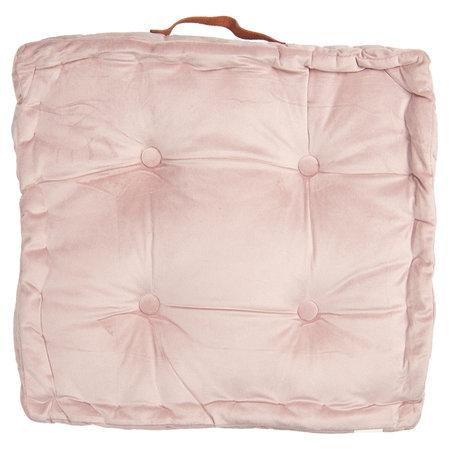 Kussen met foam 40*40*8 cm Roze | KT029.039P | Clayre & Eef