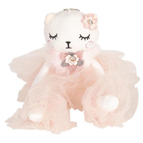 Decoratie knuffel kat 30 cm Roze | TW0517 | Clayre & Eef