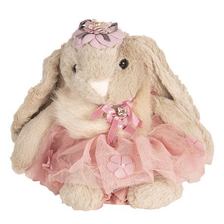 Decoratie knuffel konijn 28 cm Roze   TW0518   Clayre & Eef