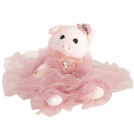 Decoratie knuffel varken 20 cm Roze | TW0519 | Clayre & Eef
