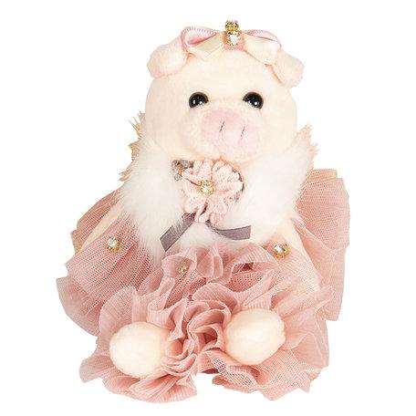 Decoratie knuffel varken 18 cm Roze | TW0520 | Clayre & Eef