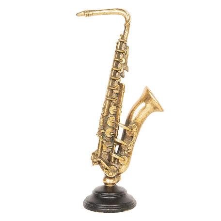 Decoratie muziekinstrument 16*10*38 cm Bruin | 6PR2509 | Clayre & Eef