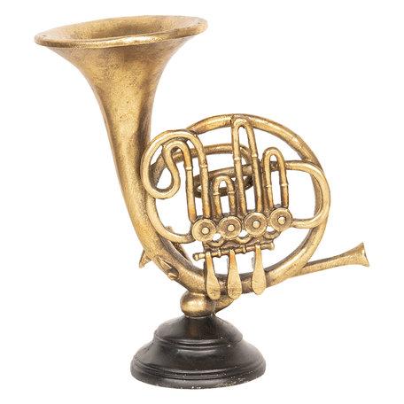 Decoratie muziekinstrument 24*12*24 cm Bruin | 6PR2510 | Clayre & Eef