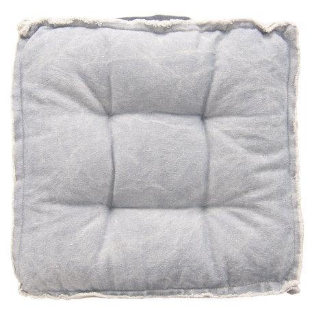 Kussen met foam 45*45*8 cm Blauw | KT029.041BL | Clayre & Eef