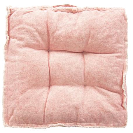 Kussen met foam 45*45*8 cm Rood | KT029.041R | Clayre & Eef