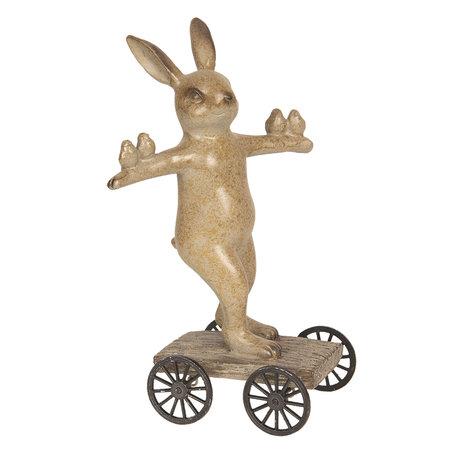 Decoratie konijn 9*8*17 cm Meerkleurig | 6PR2609 | Clayre & Eef