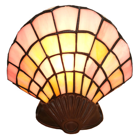 Wandlamp Tiffany 25*20 cm E14/max 1*25W Creme | 5LL-6000 | Clayre & Eef