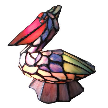 Tafellamp Tiffany 24*19*31 cm E14/max 1*25W Meerkleurig | 5LL-6003 | Clayre & Eef