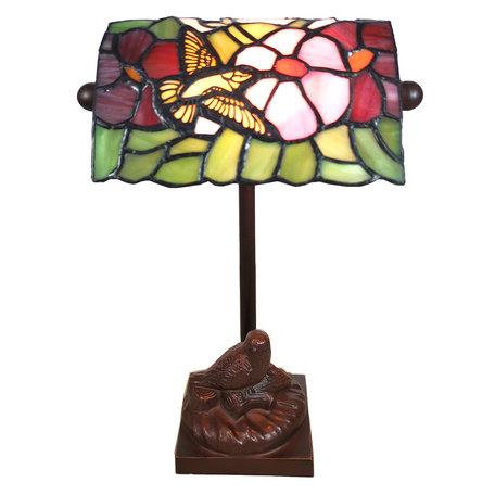 Tafellamp Tiffany 15*15*33 cm E14/max 1*25W Meerkleurig | 5LL-6008 | Clayre & Eef