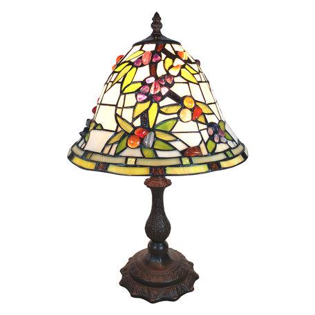 Tafellamp Tiffany ø 31*47 cm E27/max 1*60W Meerkleurig | 5LL-6019 | Clayre & Eef