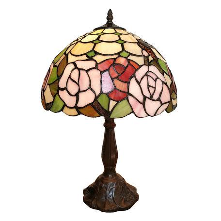 Tafellamp Tiffany ø 31*47 cm E27/max 1*60W Multi | 5LL-6020 | Clayre & Eef