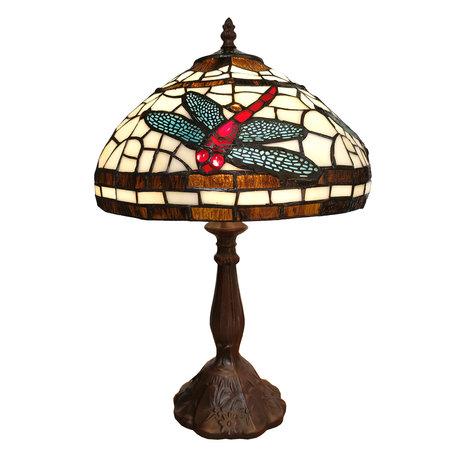 Tafellamp Tiffany ø 31*47 cm E14/max 1*25W Meerkleurig | 5LL-6023 | Clayre & Eef