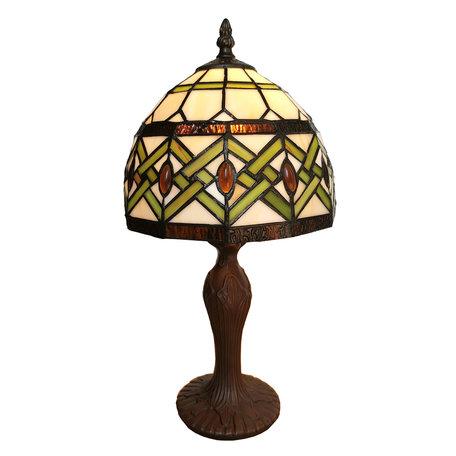 Tafellamp Tiffany ø 21*33 cm E14/max 1*25W Meerkleurig | 5LL-6027 | Clayre & Eef