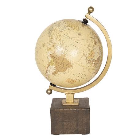 Wereldbol/globe 23*20*27 cm Meerkleurig | 64187 | Clayre & Eef
