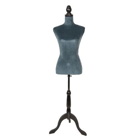 Decoratie paspop 38*40*164 cm Blauw | BU0030PE | Clayre & Eef