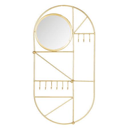 Juwelenhouder 25*3*48 cm Goudkleurig | 6Y3405 | Clayre & Eef