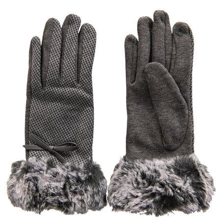 Handschoenen 8*24 cm Grijs | MLGL0025G | Clayre & Eef