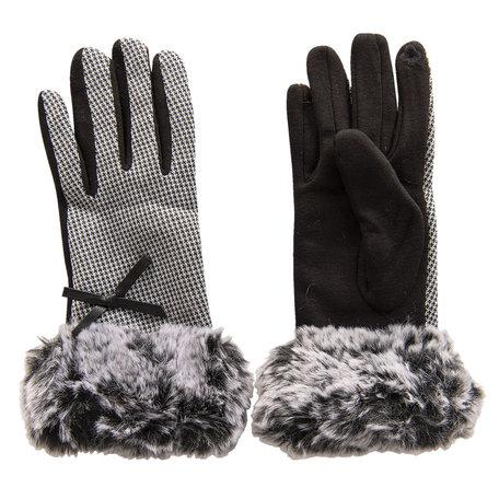 Handschoenen 8*24 cm Zwart | MLGL0025W | Clayre & Eef