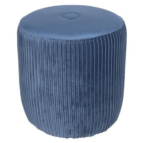Hocker ø 40*40 cm Blauw | 50352BL | Clayre & Eef