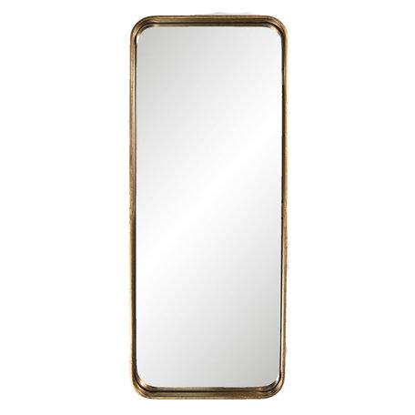 Spiegel 32*3*76 cm Goudkleurig   52S160   Clayre & Eef