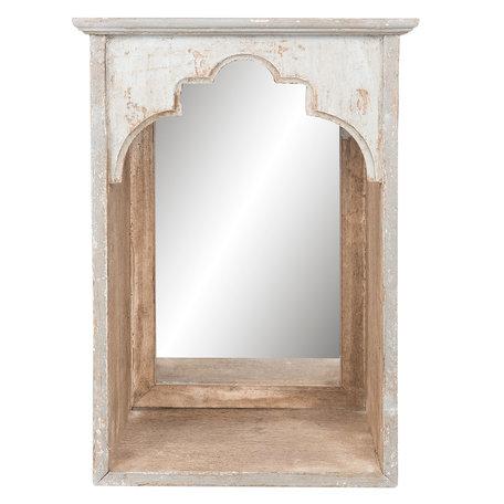 Spiegel 31*21*45 cm Grijs   62S132   Clayre & Eef