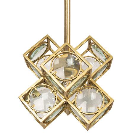 Hanglamp 38*38*38 cm E27/max 1*60W Goudkleurig | 6LMP607 | Clayre & Eef