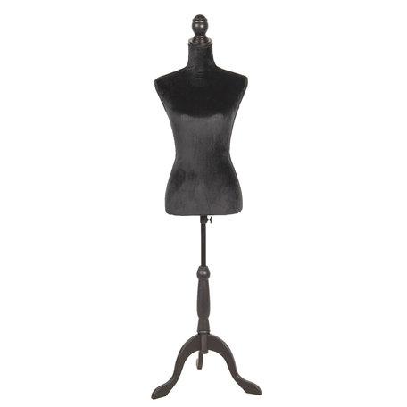 Decoratie paspop 38*40*164 cm Zwart | BU0030Z | Clayre & Eef