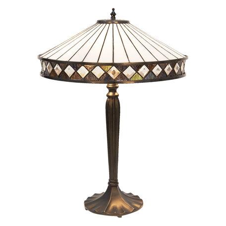 Tafellamp Tiffany ø 41*59 cm E27/max 2*60W Meerkleurig | 5LL-5983 | Clayre & Eef