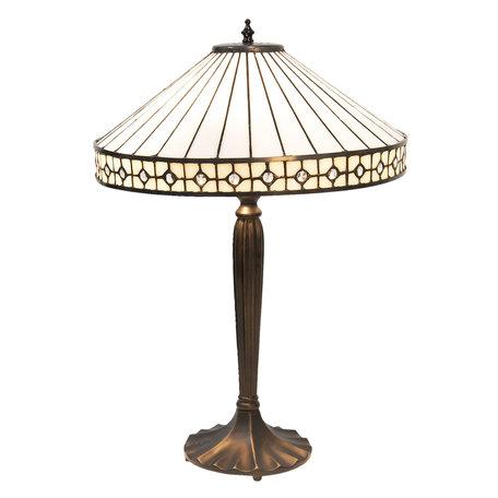 Tafellamp Tiffany ø 40*58 cm E27/max 2*60W Meerkleurig | 5LL-5984 | Clayre & Eef